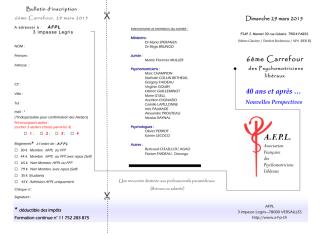 AFPL : Association Française des Psychomotriciens Libéraux