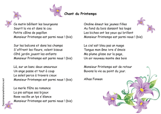 Chant du Printemps - Dessine