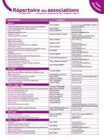 Répertoire des associations - Juillet - Guémené