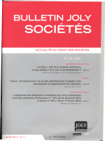 ACTUALITÉ DU DROIT DES SOCIÉTÉS