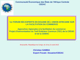 Communauté Économique des États de l`Afrique Centrale CEEAC
