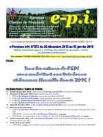 e-Paroisse Info N°272 du 26 décembre 2015 au 03 janvier 2016