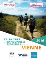 Calendrier des Randonnées pédestres dans la Vienne 2016