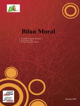 Bilan moral 2015 - Fédération Algérienne de Cyclisme