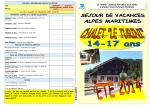 PLAQUETTE INFOS Chalet Le Turini- ETE 2014