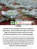 2nd Continental Essay Competition 2ème Concours