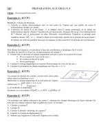 MP: PREPARATION AUX ORAUX 4 Exercice 1 : (CCP) Exercice 2