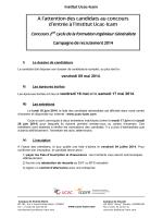 Télécharger le dossier de candidature pour le - Institut Ucac-Icam