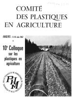Téléchargher le PDF - Comité des Plastiques en Agriculture
