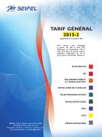 tarif 2015 - électricité