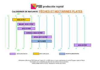 CALENDRIER DE MATURITE: PÊCHES ET NECTARINES PLATES