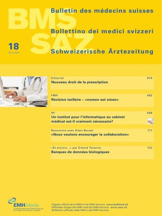 Bulletin des médecins suisses 18/2014