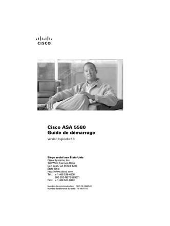 Cisco ASA 5580 Guide de démarrage