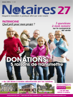 """Journal des Notaires """"Notaires 27"""""""