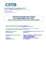 Liste des sociétés certifiées au 30/09/2014