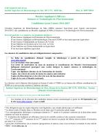 fiche de candidature - Institut supérieur de biotechnologies de Sfax