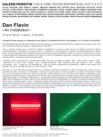 Dan Flavin - Galerie Perrotin