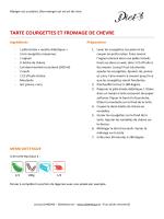 TARTE COURGETTES ET FROMAGE DE CHEVRE