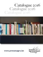 Version PDF - Les Presses agronomiques de Gembloux
