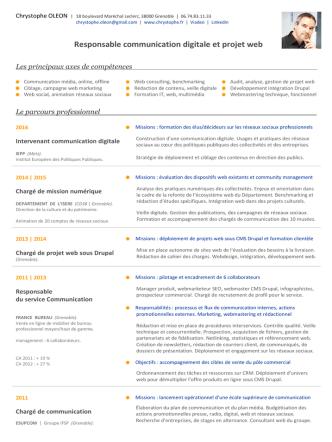 CV PDF - Chrystophe Oleon