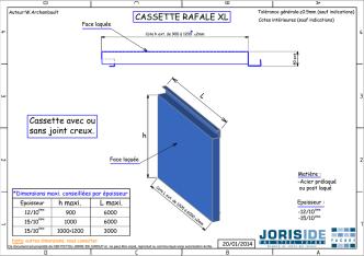 CASSETTE RAFALE XL - JORIS IDE FACADE