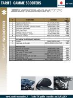 consulter le tarif - Suzuki Accessoires