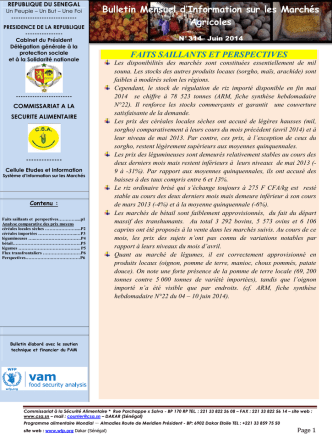 bulletin mai 2014 - Site officiel du RESIMAO