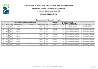 CLUB DU BLEU DE GASCOGNE, GASCON SAINTONGEOIS