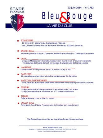 Bleu Rouge - Stade Français