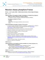 Réunion réseau phosphore France
