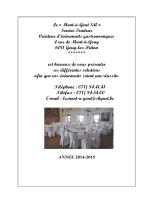 Carte traiteur 2014 - Le Mont-à-Goût