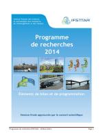 Programme de recherche 2014