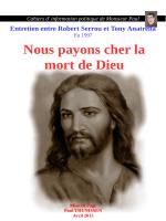 Nous payons cher la mort de Dieu