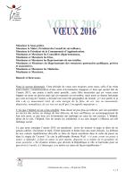 Cérémonie des voeux 2016 - Centre hospitalier de Saumur