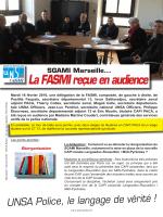 La FASMI reçue en audience - Unsa