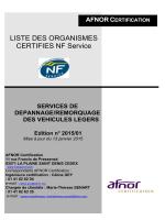 LISTE DES ORGANISMES CERTIFIES NF Service