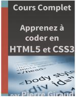 Les Bases en HTML et en CSS