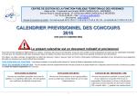 CALENDRIER PREVISIONNEL DES CONCOURS 2016