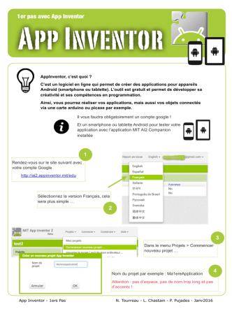 1er pas avec App Inventor