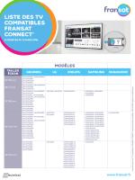 liste des téléviseurs compatibles FRANSAT Connect.