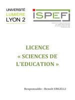 document de presentation de la nouvelle licence
