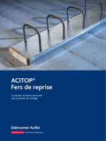 ACITOP® – Fer de reprise documentation