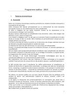 Programme wallon - 2014
