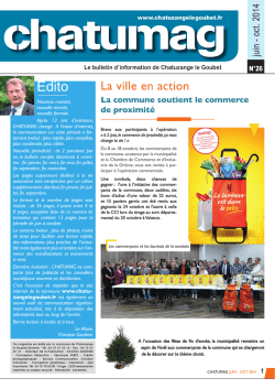 CHATUMAG SEPT. 2014 OK.indd - Commune de Chatuzange Le