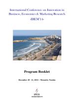 Program Book Program Booklet - ipco