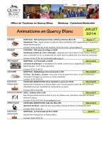 Juillet 2014 - Office de Tourisme de Montcuq en Quercy Blanc