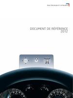 DOCUMENT DE RÉFÉRENCE 2012