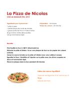 La Pizza de Nicolas