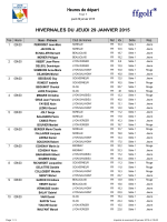 HIVERNALES DU JEUDI 29 JANVIER 2015