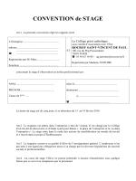 Convention de Stage Troisième - Rocroy Saint